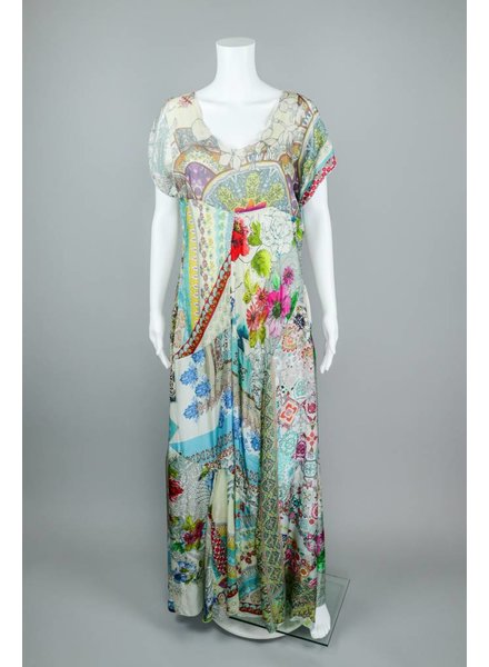 Johnny Was Print Maxi Dress With Slip