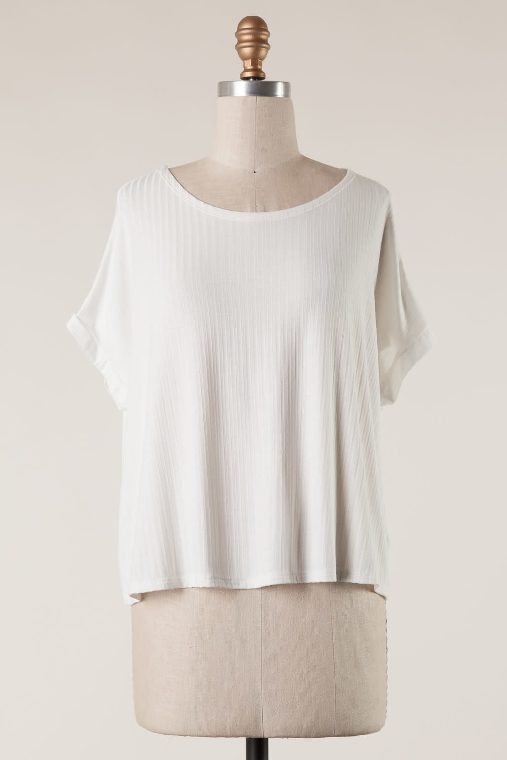 Back Twist Detail Knit Top