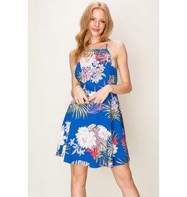 Sleevless floral Print Dress
