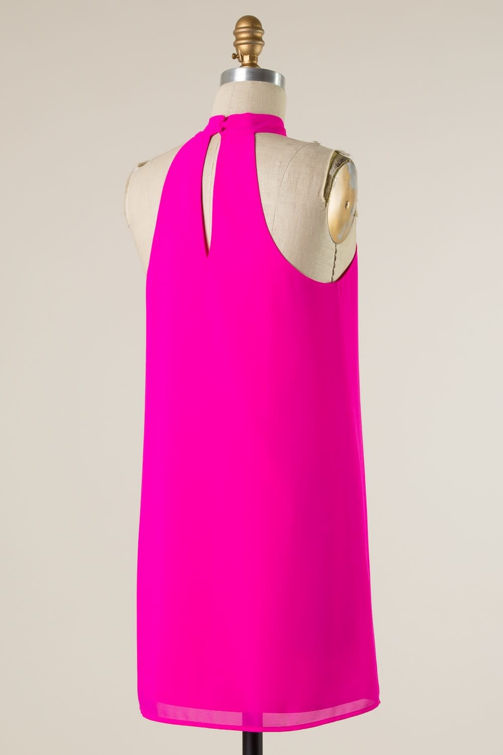 Sleeveless Halter Neck Dress