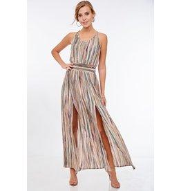Tie Back Keyhole Maxi Dress