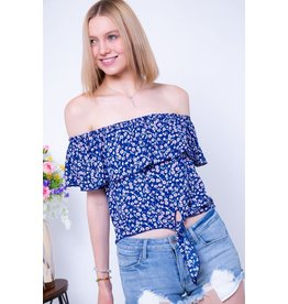OTS Ruffle Crop Top