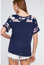 Floral Contrast T-Shirt