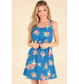 d9757feaf7 Crepe Floral Dress w/Strap Back