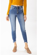 The Nicole High Rise Button Fly Skinny