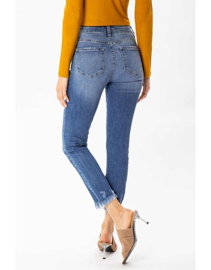 Nicole High Rise Button Fly Skinny