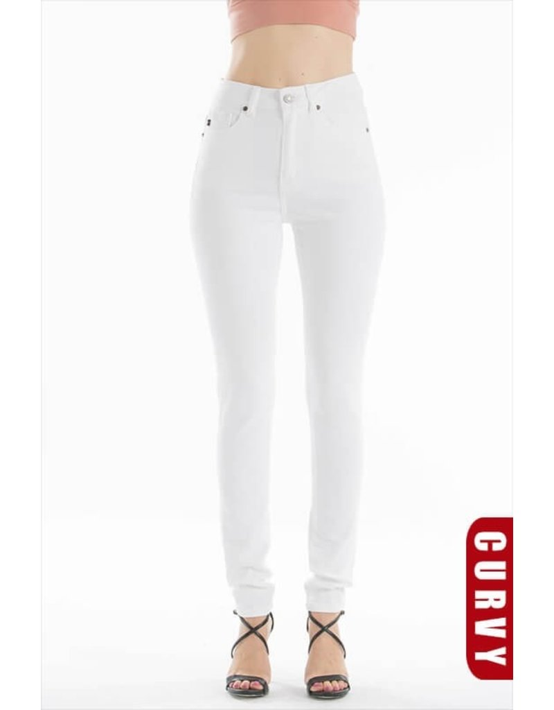The Curvy Style High Rise White Skinny