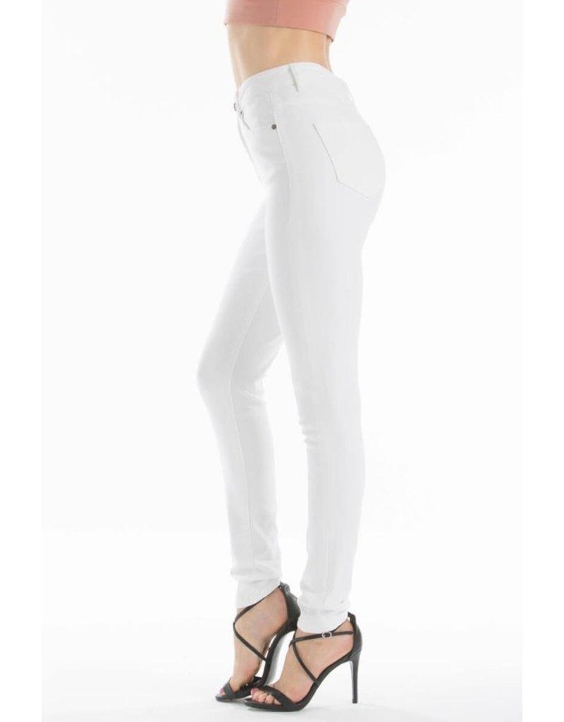 Curvy Style High Rise White Skinny