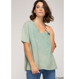 Lazy Sunday  V-Neck Tee