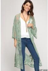 Flower Lace Kimono