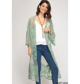 The Wait For You Lace Duster Kimono