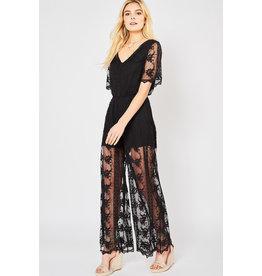Lainey Black Lace Jumpsuit