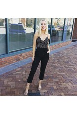Laura Lace Cropped Jumpsuit