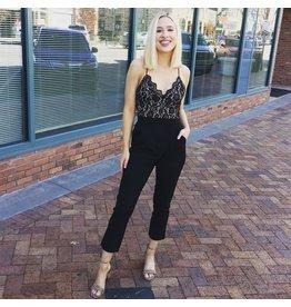 Laura Lace Cropped Jumpsuit
