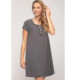 Harper Striped T-Shirt Dress