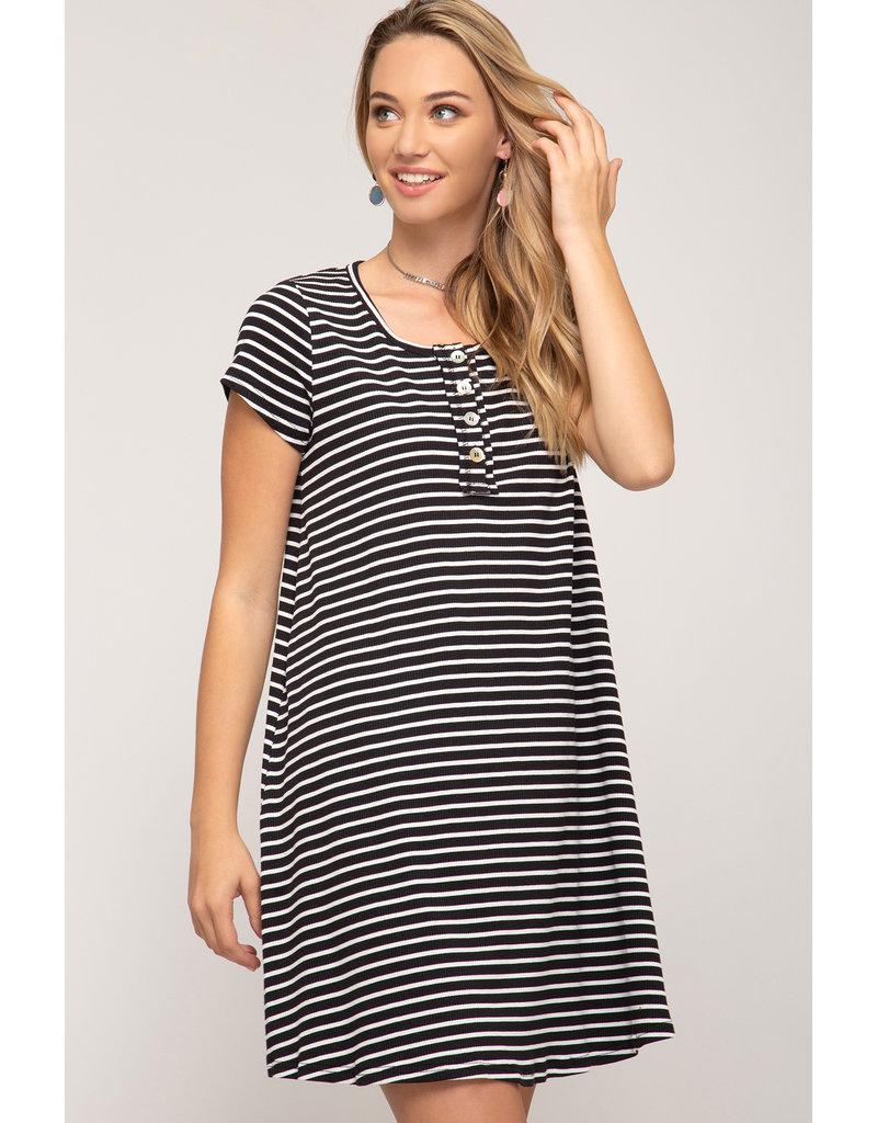 Harper Striped T-Shirt Dress