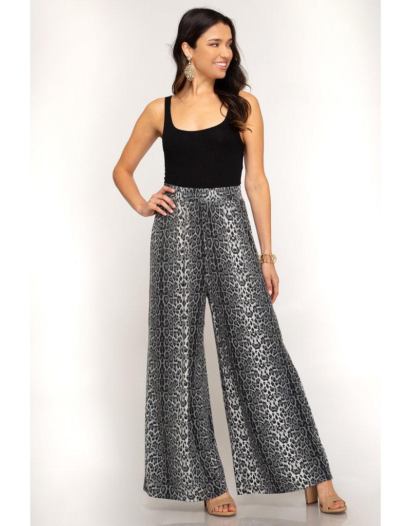 Party Palazzo Leopard Print Pants