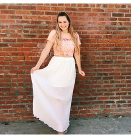 Paula Pleated Maxi Skirt
