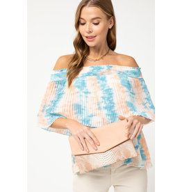 The That Tie Dye Off The Shoulder Top