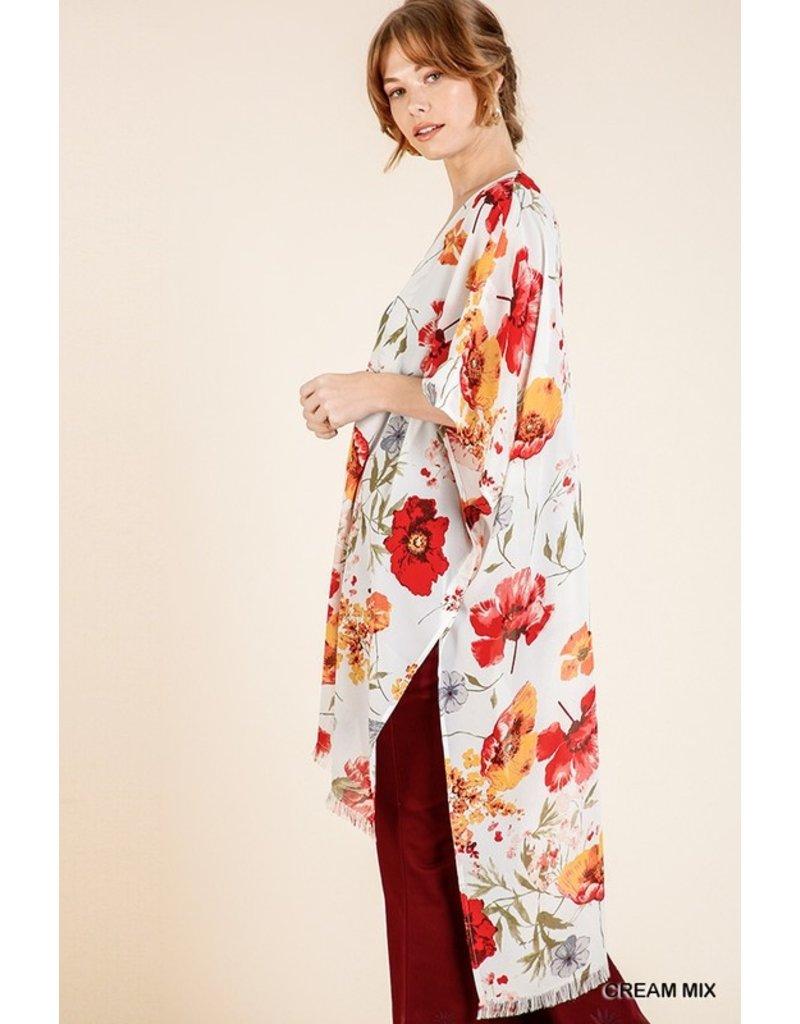 Mary Floral Print Kimono
