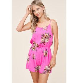 Pretty in Pink Floral Print Romper