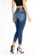 Gretchen Dark Wash Distressed Skinny