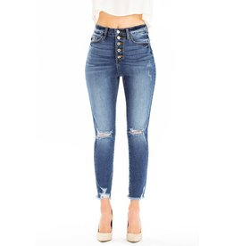 Bonnie High Rise Button Fly Skinny