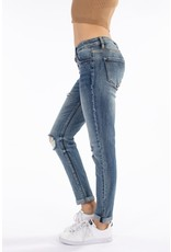 The Dylan Mid Rise Distressed Boyfriend Jeans