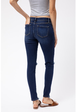 The Danita Dark Wash Distressed Skinny
