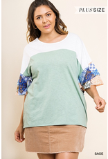 The Curvy Collection -  Paisley Print Top
