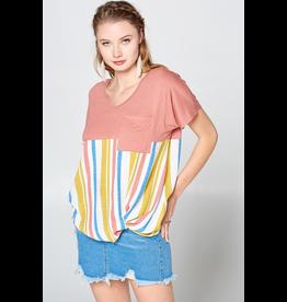 Oddi Curvy Collection - Summer Stripe Top