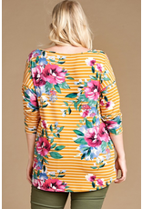 Curvy Collection - Candace Floral Knit Top