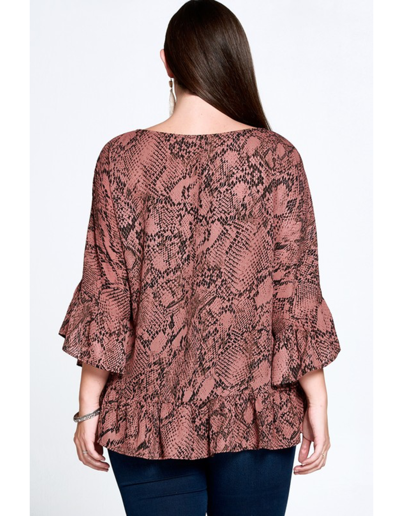 Curvy Collection - Sonja Snakeskin Top