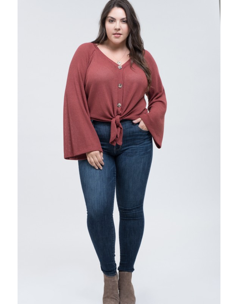 The Curvy Collection -  Babs Button Top
