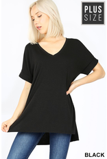 Curvy Collection - Val V Neck Top