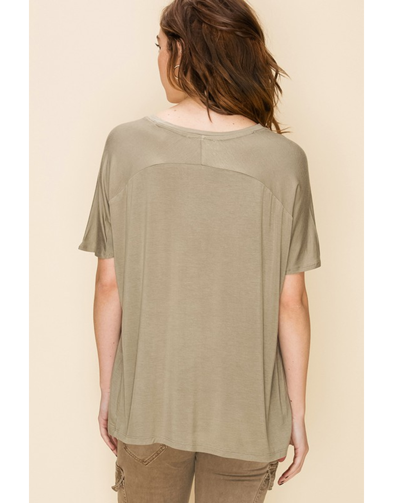 The Cuddle Up V- Neck Tee