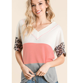 Peachy Color Block Top