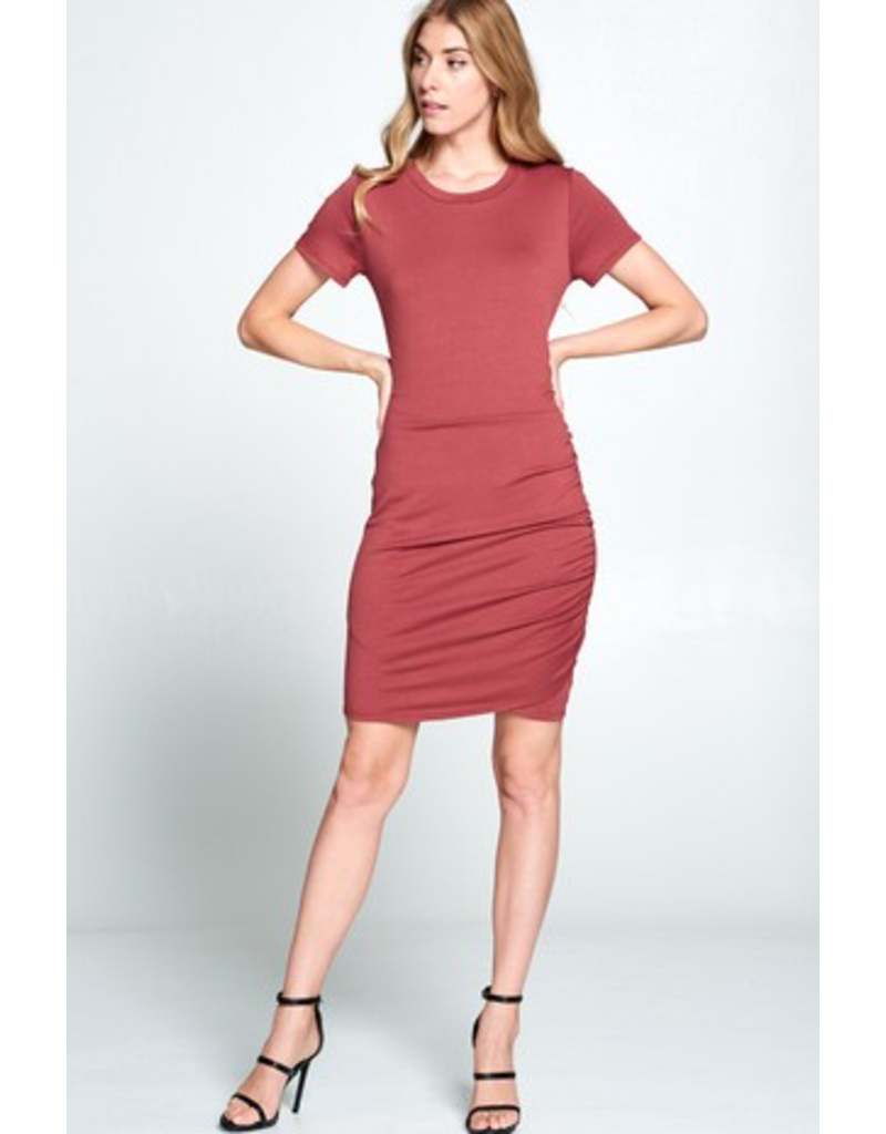 Sara Side Ruched Knit Dress