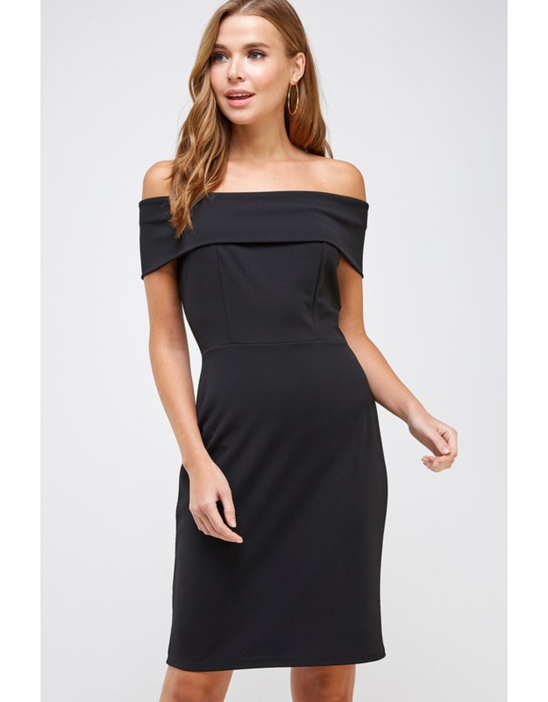 Boss Lady Off The Shoulder Dress