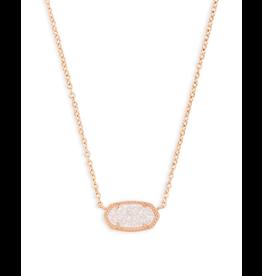 Kendra Scott Elisa Necklace Rosegold Iridescent Drusy