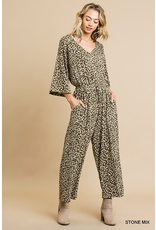 The Leopard Print V-Neck Jumpsuit