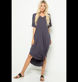 Catie Cuffed Sleeve Midi Dress