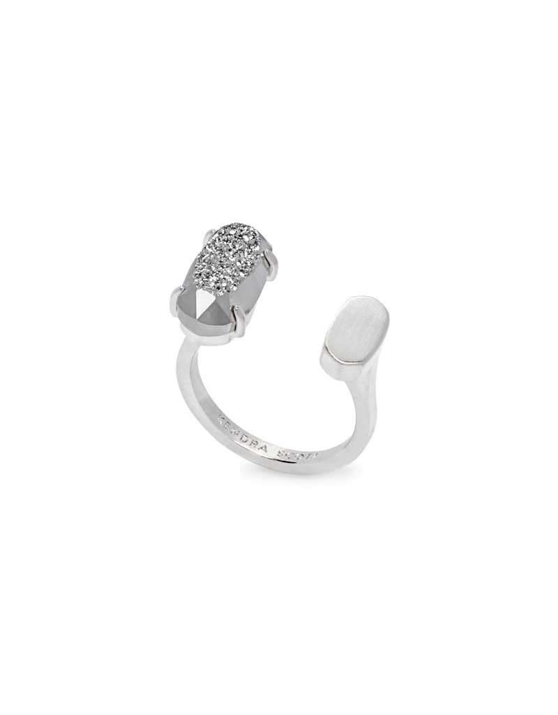 Kendra Scott Pryde Ring Rhodium Platinum