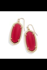 Kendra Scott Elle Gold Drop Earrings In Berry Glass