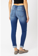 The Rebecca Button Fly Medium Wash Skinny