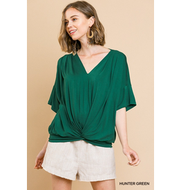 Jersey Knit Knot Front Top