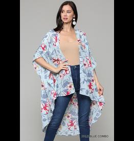 Luna Floral Print Kimono