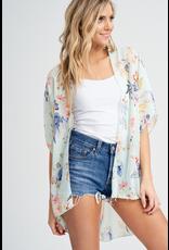 Summer  Floral Print Kimono
