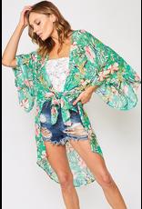 Lucy Tropical Print Kimono
