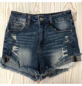 Brittany Distressed Denim Shorts